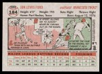 2005 Topps Heritage #184  Lew Ford  Back Thumbnail