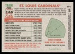 2005 Topps Heritage #134   St. Louis Cardinals Team Back Thumbnail