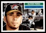 2005 Topps Heritage #148  Oliver Perez  Front Thumbnail
