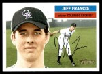 2005 Topps Heritage #17  Jeff Francis  Front Thumbnail