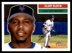 2005 Topps Heritage #81  Cliff Floyd  Front Thumbnail