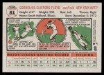 2005 Topps Heritage #81  Cliff Floyd  Back Thumbnail