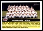 2005 Topps Heritage #146   Minnesota Twins Team Front Thumbnail