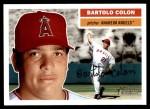 2005 Topps Heritage #113  Bartolo Colon  Front Thumbnail