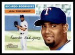 2005 Topps Heritage #74  Ricardo Rodriguez  Front Thumbnail