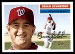 2005 Topps Heritage #27  Brian Schneider  Front Thumbnail