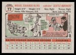 2005 Topps Heritage #77  Miguel Olivo  Back Thumbnail