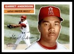 2005 Topps Heritage #40  Garret Anderson  Front Thumbnail