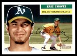 2005 Topps Heritage #155 GRN Eric Chavez  Front Thumbnail