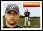 2005 Topps Heritage #189  Guillermo Quiroz  Front Thumbnail