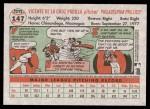 2005 Topps Heritage #147  Vicente Padilla  Back Thumbnail