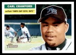 2005 Topps Heritage #32  Carl Crawford  Front Thumbnail