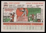2005 Topps Heritage #264  Grady Sizemore  Back Thumbnail