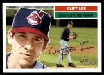 2005 Topps Heritage #250  Cliff Lee  Front Thumbnail