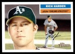2005 Topps Heritage #380  Rich Harden  Front Thumbnail