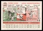 2005 Topps Heritage #337  Terrmel Sledge  Back Thumbnail