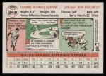 2005 Topps Heritage #248  Tom Glavine  Back Thumbnail