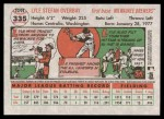 2005 Topps Heritage #335  Lyle Overbay  Back Thumbnail