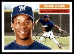 2005 Topps Heritage #230  Rickie Weeks  Front Thumbnail