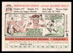 2005 Topps Heritage #275  Marty Cordova  Back Thumbnail