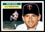 2005 Topps Heritage #310  Brad Radke  Front Thumbnail