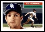 2005 Topps Heritage #295  Alex Gonzalez  Front Thumbnail