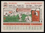 2005 Topps Heritage #387  Bill Hall  Back Thumbnail