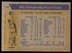 1971 Topps #136   NBA Playoffs Game #4 Back Thumbnail