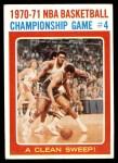 1971 Topps #136   NBA Playoffs Game #4 Front Thumbnail