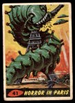 1962 Topps / Bubbles Inc Mars Attacks #41   Horror in Paris  Front Thumbnail