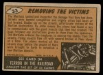 1962 Topps / Bubbles Inc Mars Attacks #33   Removing the Victims  Back Thumbnail