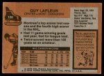 1975 Topps #126  Guy Lafleur   Back Thumbnail