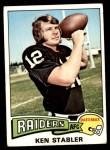 1975 Topps #380  Ken Stabler  Front Thumbnail
