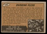 1962 Topps / Bubbles Inc Mars Attacks #19   Burning Flesh Back Thumbnail