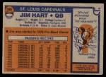 1976 Topps #266  Jim Hart  Back Thumbnail
