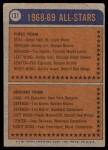 1974 Topps #131   -  Brad Park All-Star Back Thumbnail