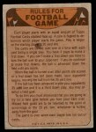 1974 Topps  Checklist   Chicago Bears Team Back Thumbnail
