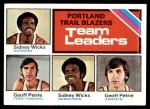 1975 Topps #131   -  Geoff Petrie / Sidney Wicks Trail Blazers Team Leaders Front Thumbnail