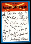 1973 Topps Blue Checklist   Royals Front Thumbnail