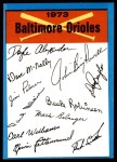 1973 Topps Blue Checklist   Orioles Front Thumbnail