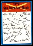 1973 Topps Blue Checklist   Giants Front Thumbnail