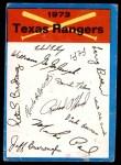 1973 Topps Blue Checklist   Rangers Front Thumbnail