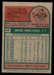 1975 Topps Mini #49  Larry Dierker  Back Thumbnail