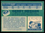 1976 O-Pee-Chee NHL #35  Gerry Meehan  Back Thumbnail