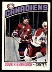 1976 O-Pee-Chee NHL #109  Doug Risebrough  Front Thumbnail