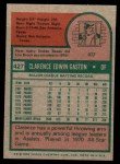 1975 Topps Mini #427  Cito Gaston  Back Thumbnail