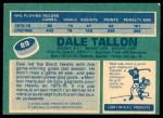 1976 O-Pee-Chee NHL #89  Dale Tallon  Back Thumbnail