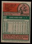 1975 Topps Mini #239  George Stone  Back Thumbnail