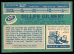 1976 O-Pee-Chee NHL #255  Gilles Gilbert  Back Thumbnail