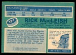 1976 O-Pee-Chee NHL #121  Rick MacLeish  Back Thumbnail